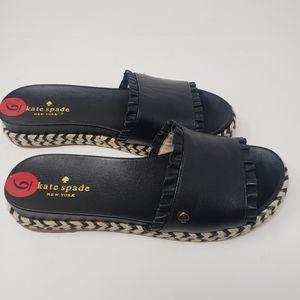 Kate Spade Slide on Sandals Size 6 Black